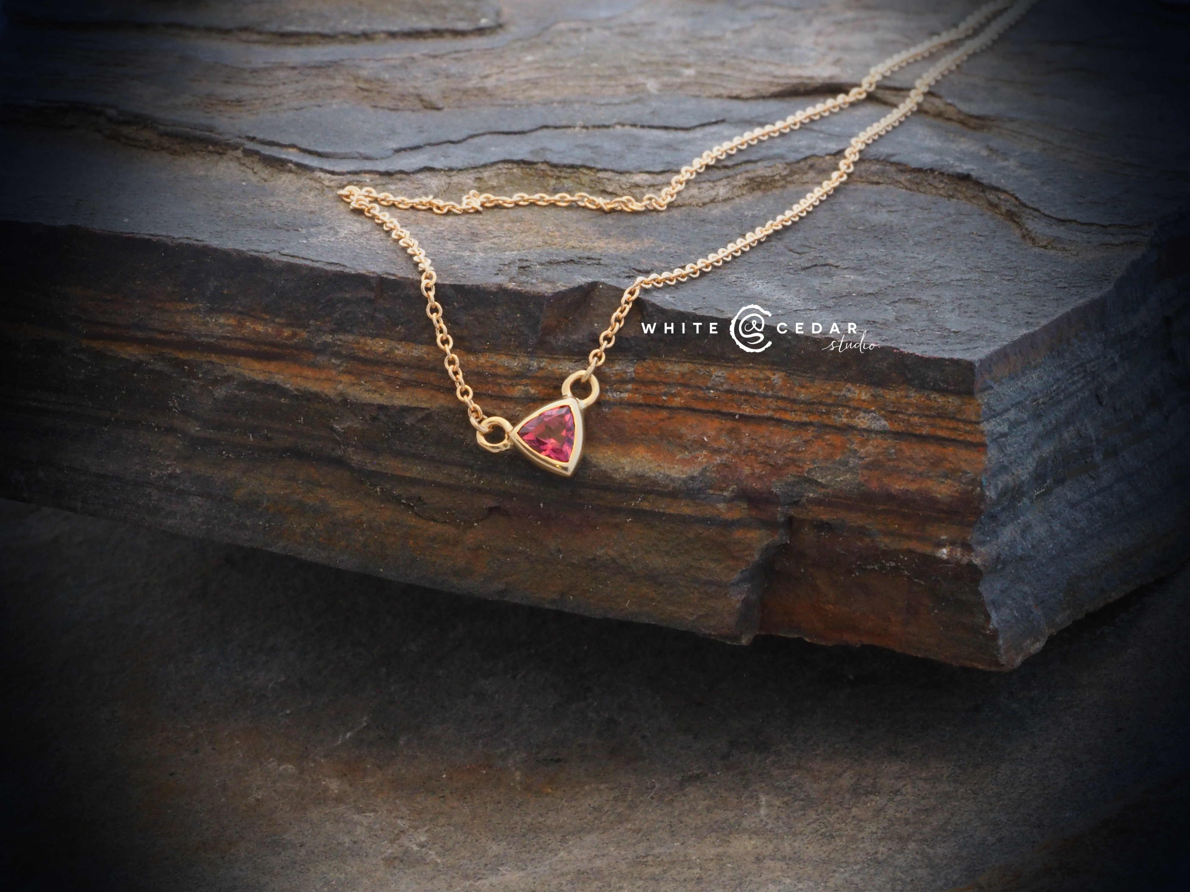 with garnet gold and rose pendant in diamonds tw champagne white rhodolite necklace